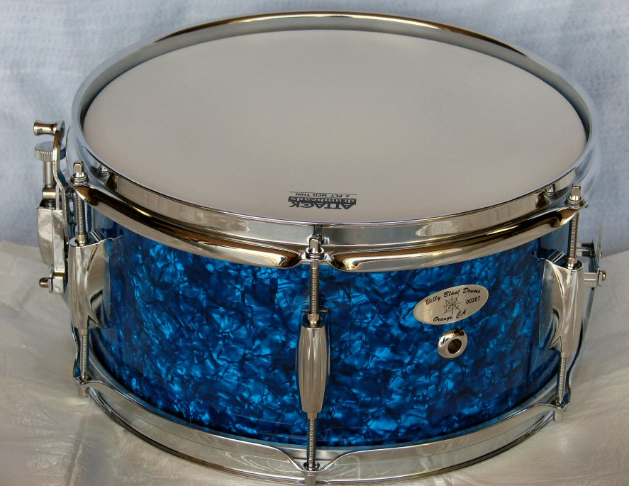 "12""X6"" Blue Pearl Snare Drum"