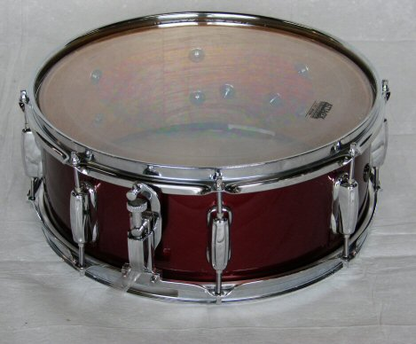 "1970's Gretsch 14""x 5.5"" Burgandy Snare Drum"