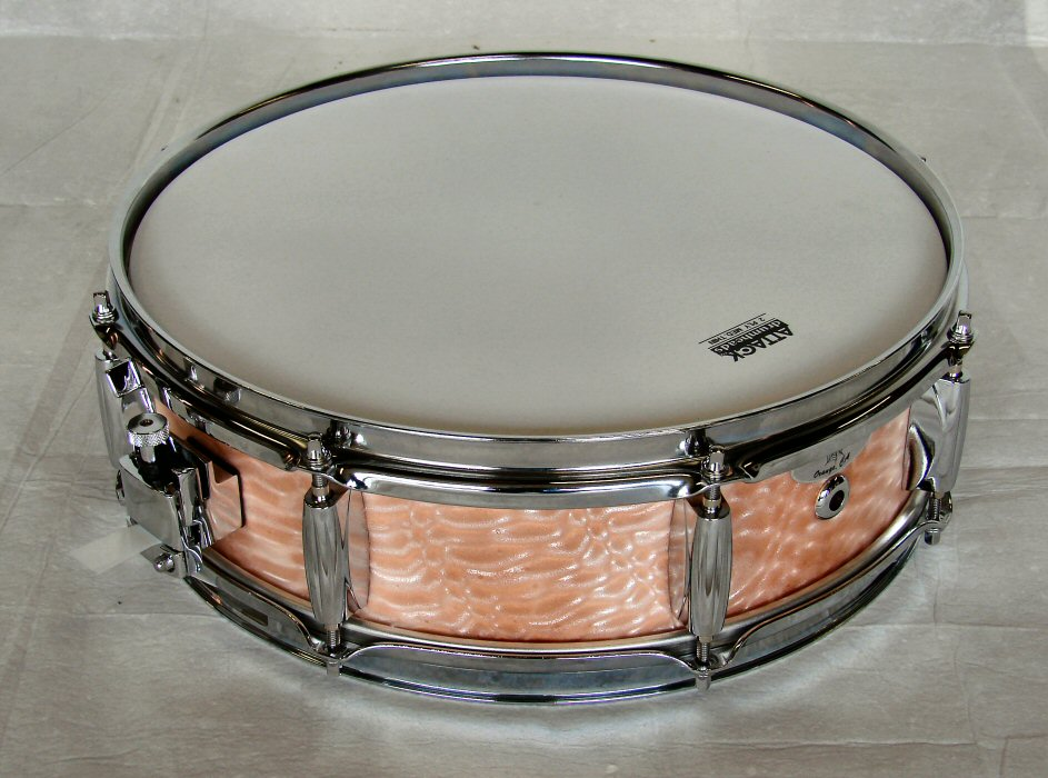 "14""X4"" 10ply Serpintine Peach Snare Drum"