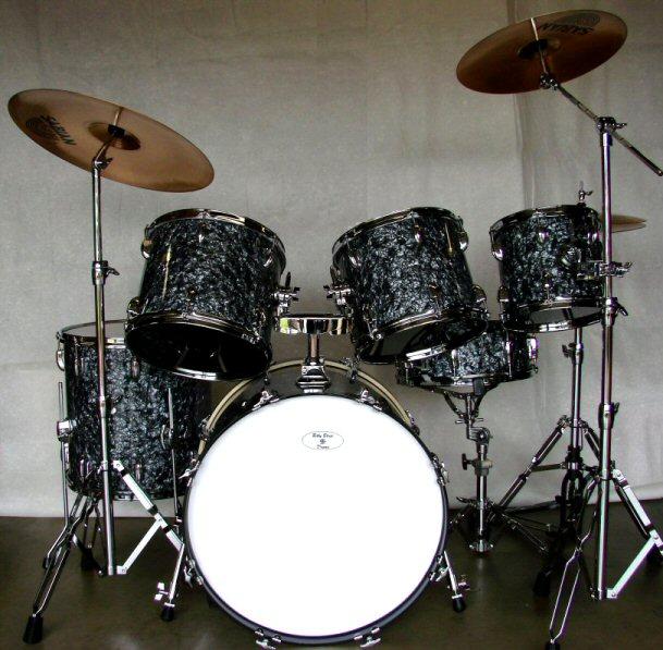 Black Cymbal Set Black Pearl Drum Set