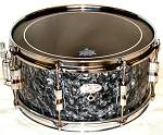 "13""X6"" 8ply Hi Gloss Black Pearl Snare Drum"