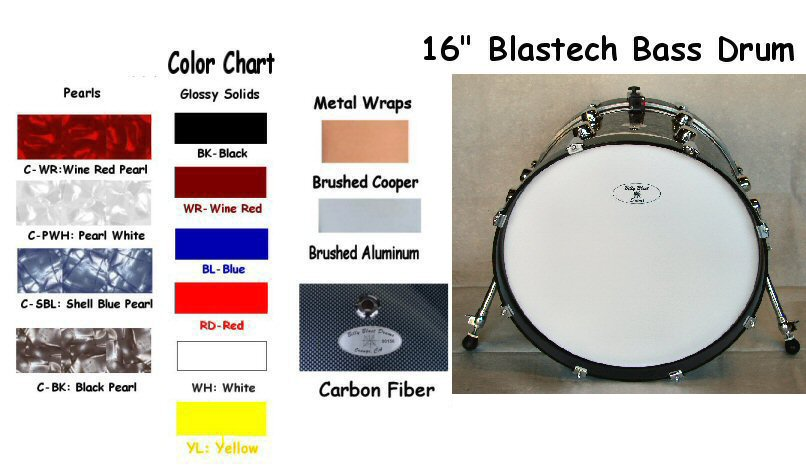 "Blastech Bass Drum 16""X12"""