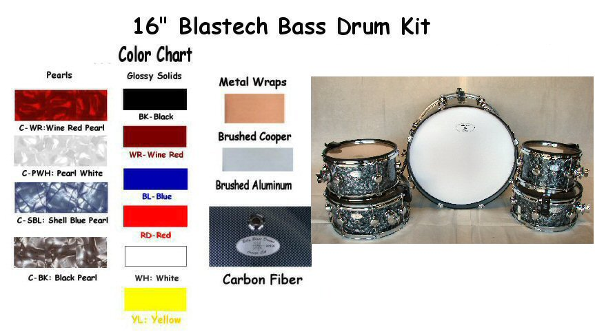 "Blastech Drums with 16"" Bass Drum"