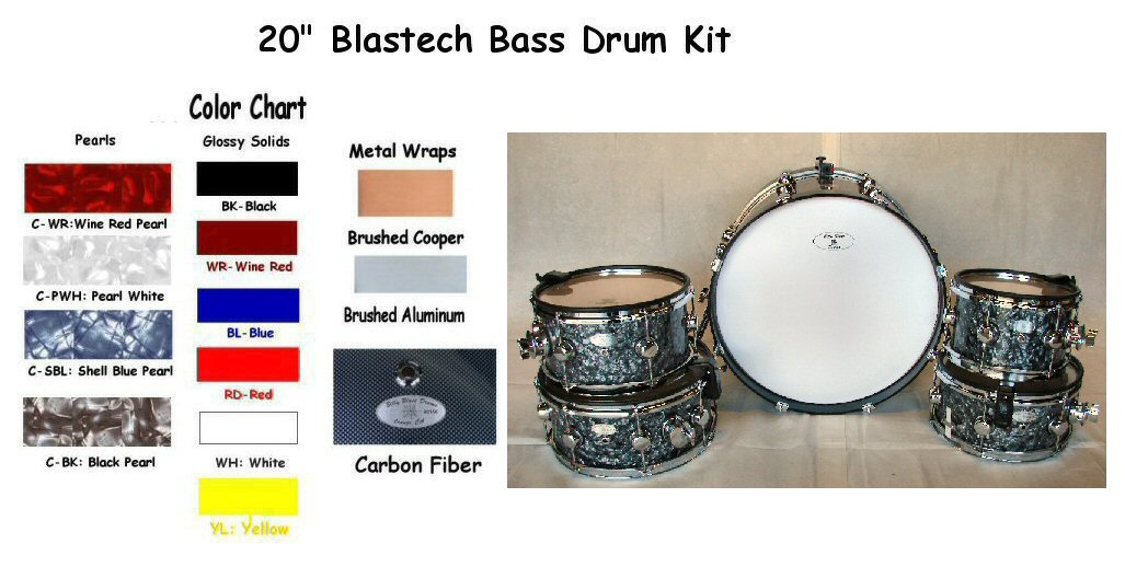 "Blastech Drums with 20"" Bass Drum"