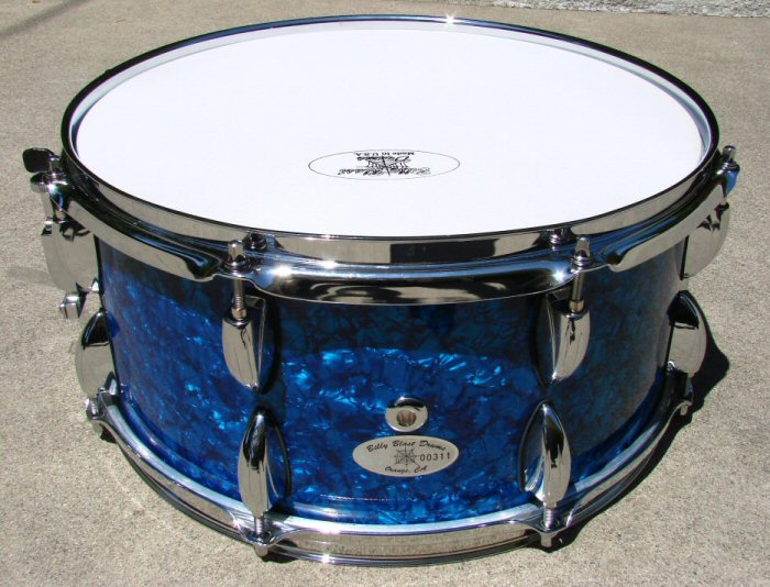 "14"" X  6.5"" 10ply Blue Pearl Snare Drum"