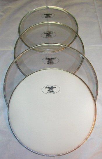 "4-Prepack Sound Controlled Batter Heads w/14"" Coated Snare Head"