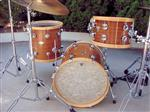 Mahogany Drum Kit with wood Hoops