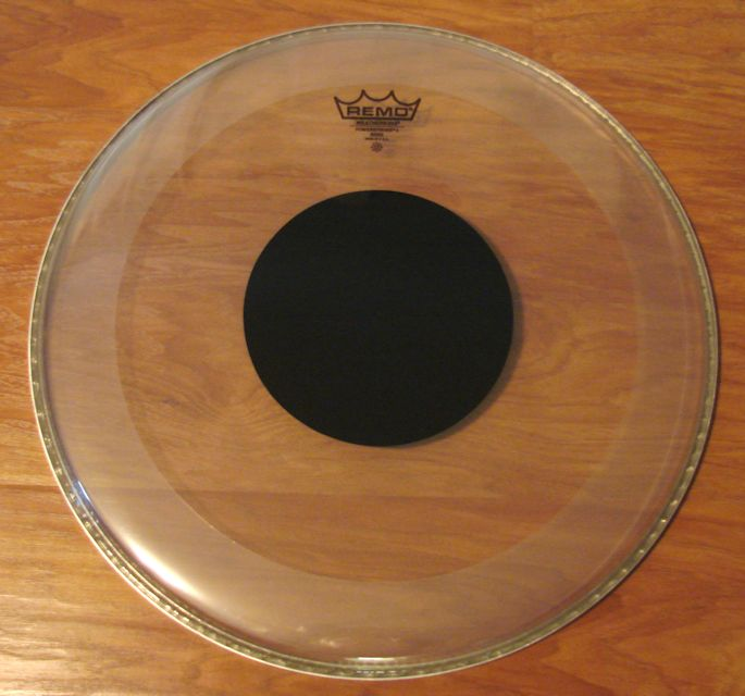 "18"" Remo Black Dot Clear Sound Controlled Bass Drum Head"