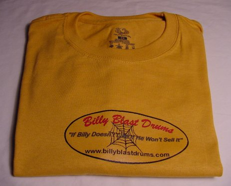 Billy Blast Logo Gold Tee Shirt Medium