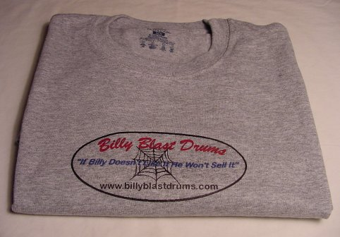 Billy Blast Logo Steel Gray Tee Shirt Medium