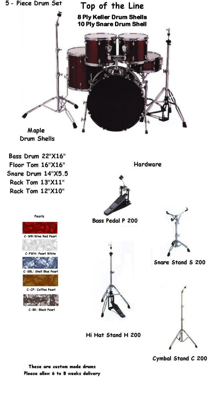 HD 20522 5-Piece Pearl Drum Kit