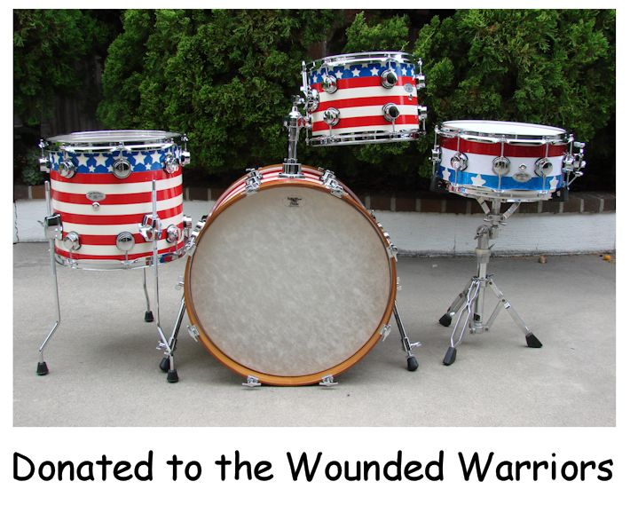 Wounded Warriors Drum Kit