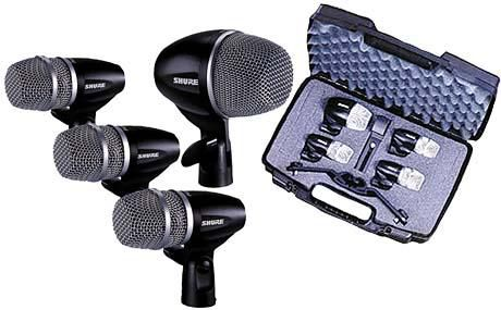 PGDMK4-XLR  Shure PG 4PC Drum Mic Kit