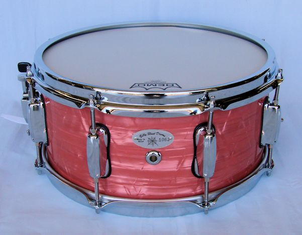 13x6 Pink Pearl Wrap Snare Drum