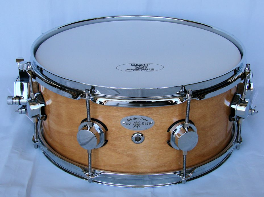 14x6 10ply Natural Maple Snare Drum