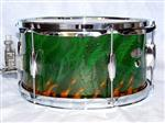 Custom-Green-Airbrushed-Snare-Drum