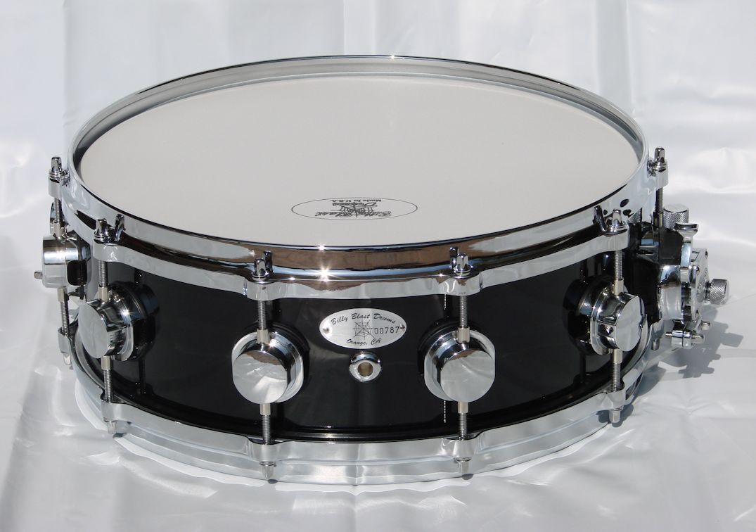 "14""x5"" 10ply Black Mahogany Snare Drum"