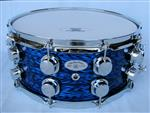 14x6.5 16ply Blue Oynx Snare Drum