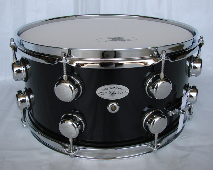 Midnite Gloss Black Snare Drum