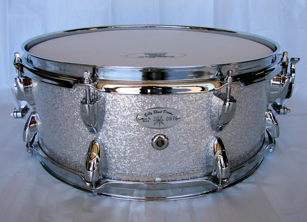 14x5.5 12ply Silver Sparkle Snare Drum