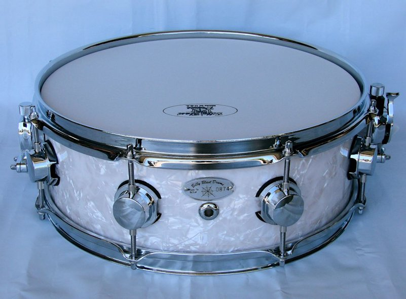 14x5 10ply White Pearl Snare Drum