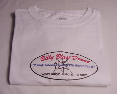Billy Blast Logo White Tee Shirt Medium